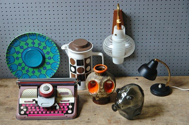 Selection of vintage homeware sourced by H is for Home