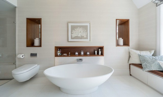 White contemporary bathroom design