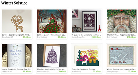 Winter Solstice Etsy List curated by H is for Home