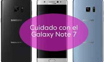 Ojo: retiran del mercado Samsung Galaxy Note 7