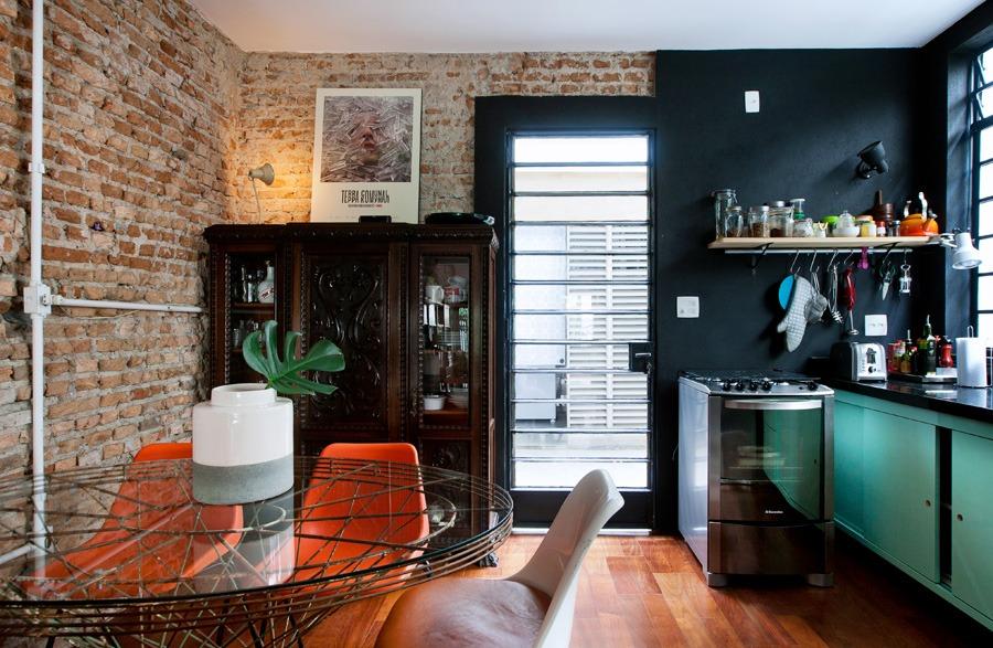 01-decoracao-casa-reforma-tijolo-cozinha-preta