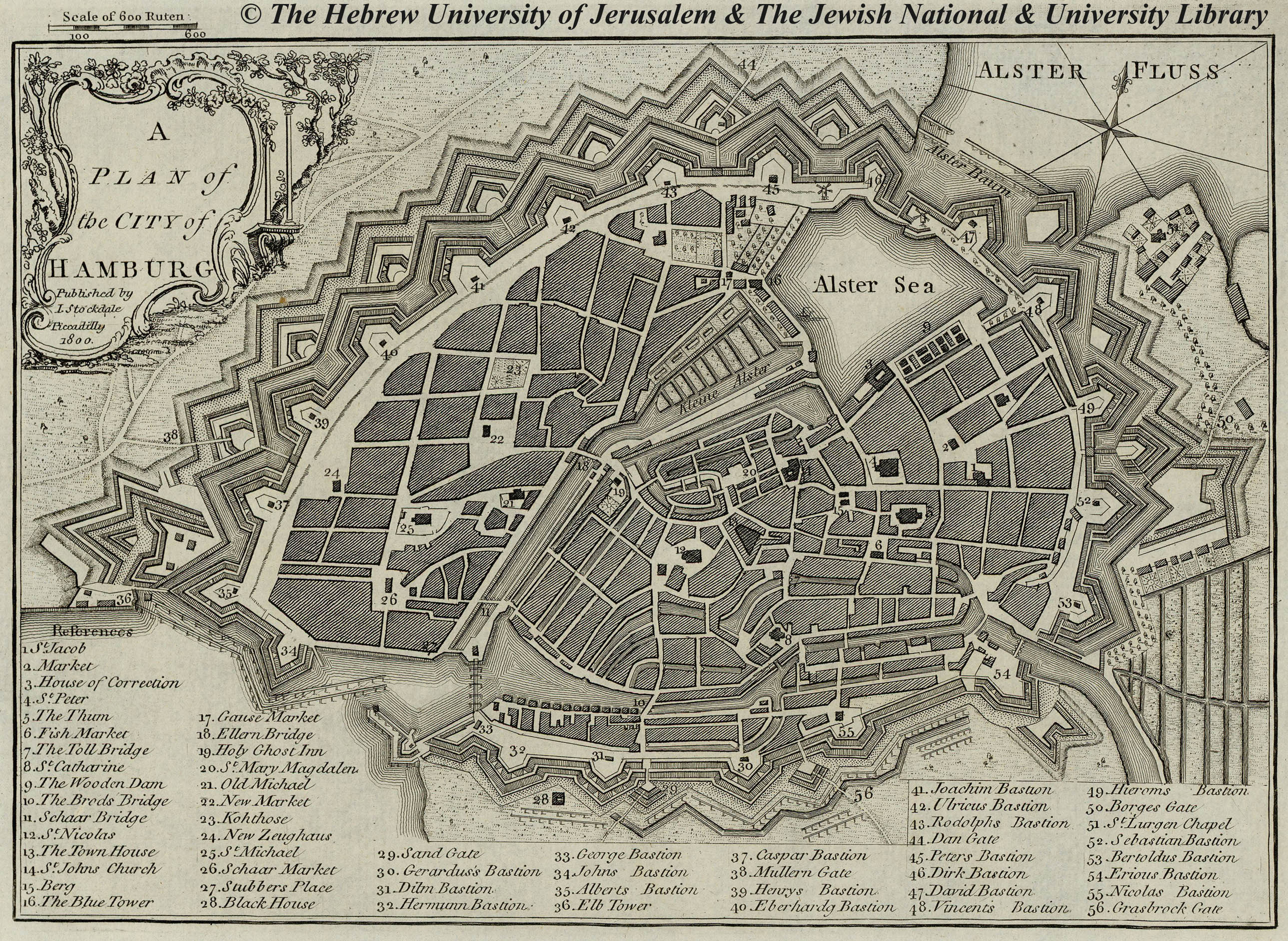 Map of Hamburg  1800  J  Stockdale Low Resolution   High Resolution