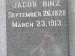 Glenwood Cemetery, Jacob Binz