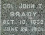 Glenwood Cemetery, Col. John T. Brady,