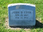 Alief Cemetery, John Cook