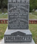 Marker in German, deceased born in West Prussia