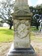 De Zavala Cemetery: Brigham Marker