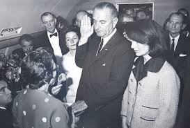 Casey (at left) at LBJ swearing in ceremony