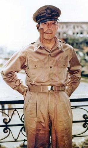 De Amerikaanse generaal Douglas MacArthur