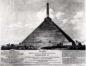 Oude tekening van de pyramide