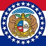 Zegel in de vlag van de Amerikaanse staat Missouri