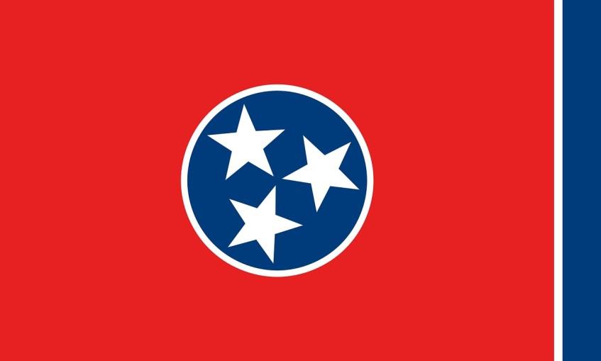 Vlag van de staat Tennessee - Verenigde Staten