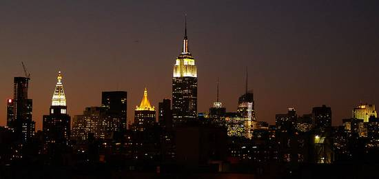 Empire State Building bij nacht