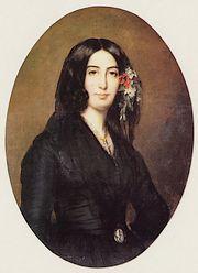 George Sand in 1835 (Auguste Charpentier)