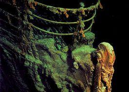 Boeg van de gezonken Titanic