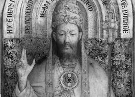 Röntgenafbeelding van een detail van het altaarstuk