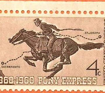 pony-express-postzegel
