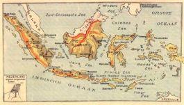 Oude kaart van Nederlands-Indië