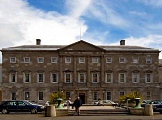 Leinster House in de Ierse hoofdstad Dublin