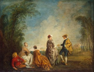 Een gênant voorstel, 1715 (Hermitage)