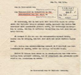 Het Duitse Ultimatum van 14 mei 1940