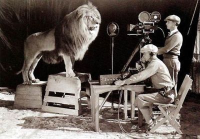 Een andere opname voor het logo van MGM