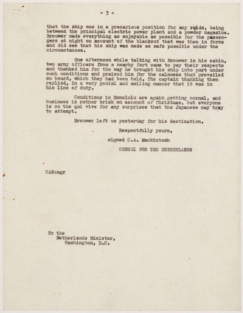Verslag Pearl Harbor, 21 december 1941 - Nationaal Archief