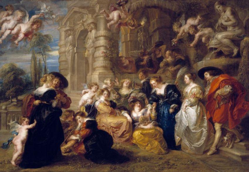 De liefdestuin - Peter Paul Rubens, ca. 1633 (Madrid, Museo Nacional del Prado)
