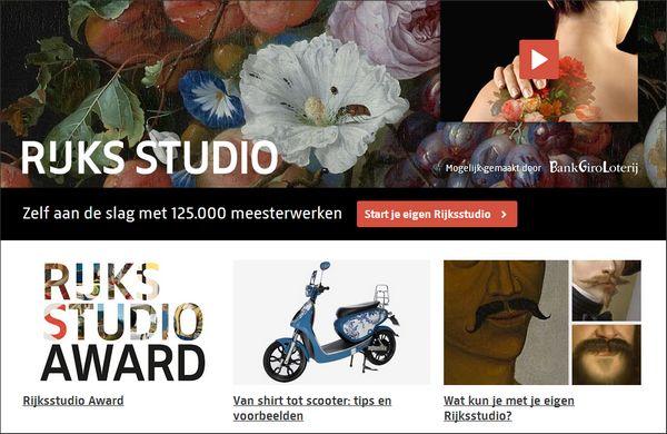 Rijksstudio van het Rijksmuseum