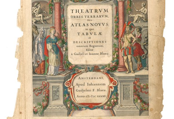 Titelblad van de Atlas Maior van Joan Blaeu (1662)