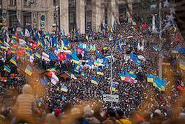 De betoging in Kiev op 1 december 2013 - Foto: C / Nessa Gnatoush