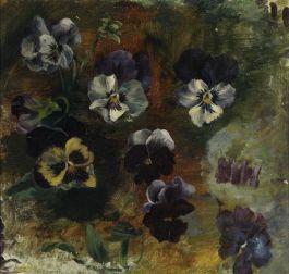 Koningin Wilhelmina, Studie van viooltjes (Paleis Het Loo)