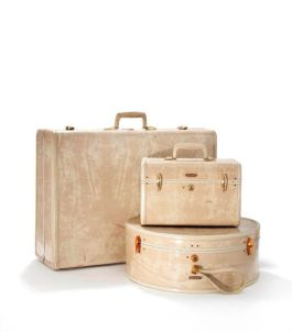 Lichtgewicht koffer, beauty case en hoedendoos. Samsonite, V.S., 20ste eeuw, jaren '50.