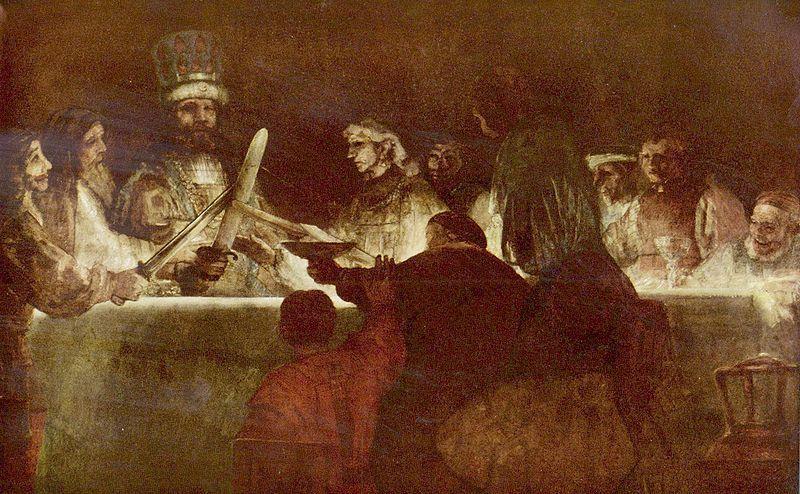 De samenzwering van de Bataven onder Claudius Civilis - Rembrandt van Rijn