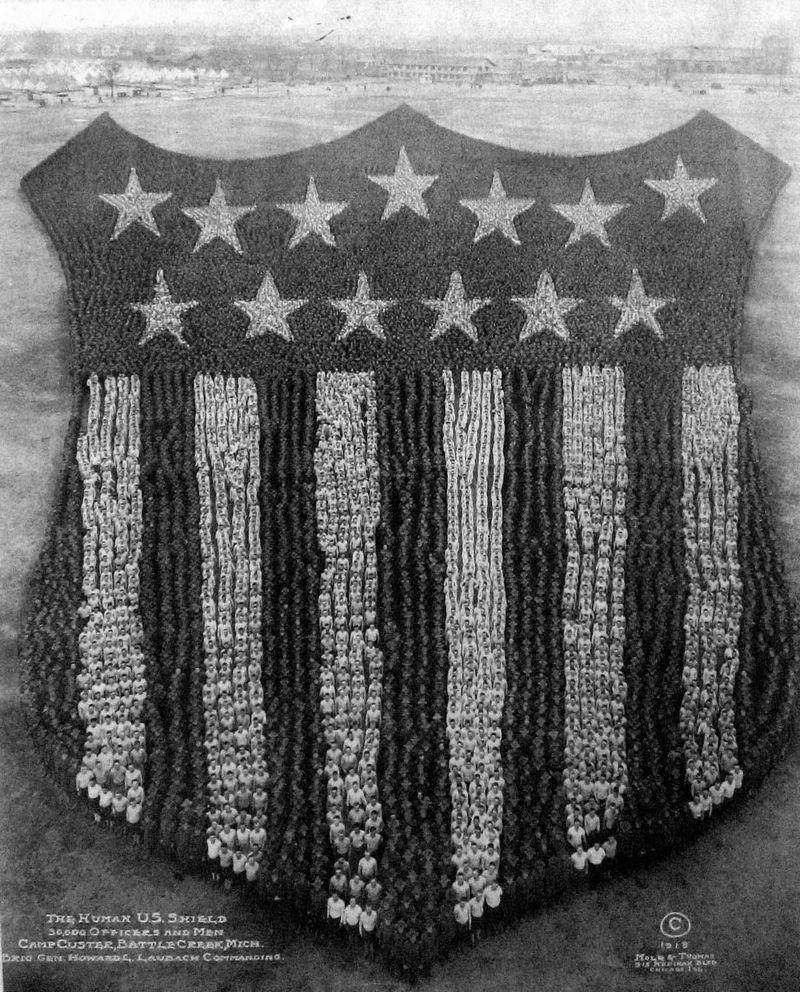 The Human US Shield - Arthur Mole, 1918