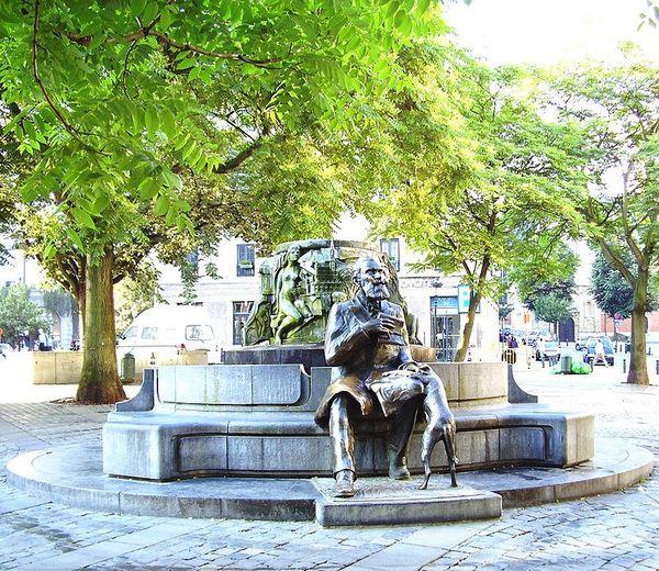 Karel Buls, fontein in Brussel - cc