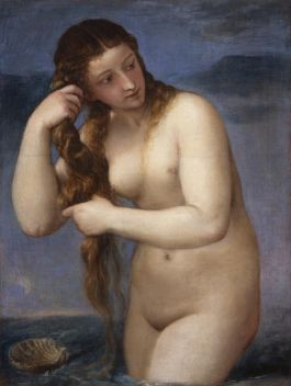 Venus verrijst uit de zee - Titaan, ca.1520 (Edinburgh, National Galleries of Scotland)