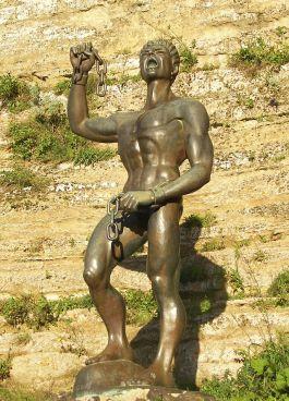 Beeld van Eunus op Sicilië - cc