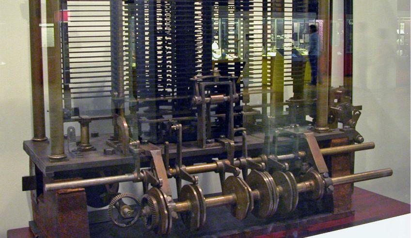 Deel van de analytische machine van Charles Babbage - cc