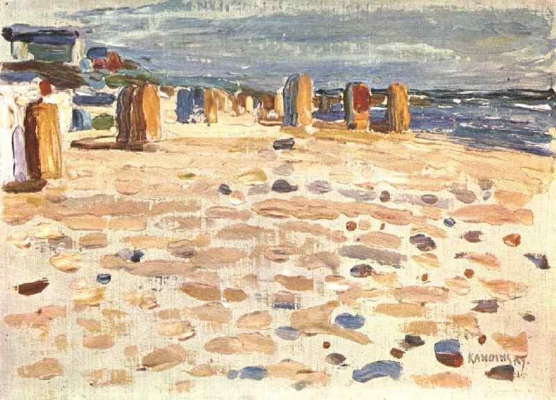 Strandstoelen in Holland - Kandinsky, 1904