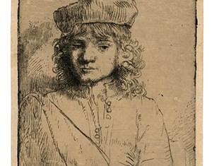 Portret van Titus (1656) op Japans papier