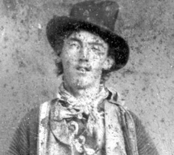 De portretfoto vn Billy the Kid
