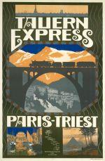 Affiche Tauern Express door Otto Barth, 1911