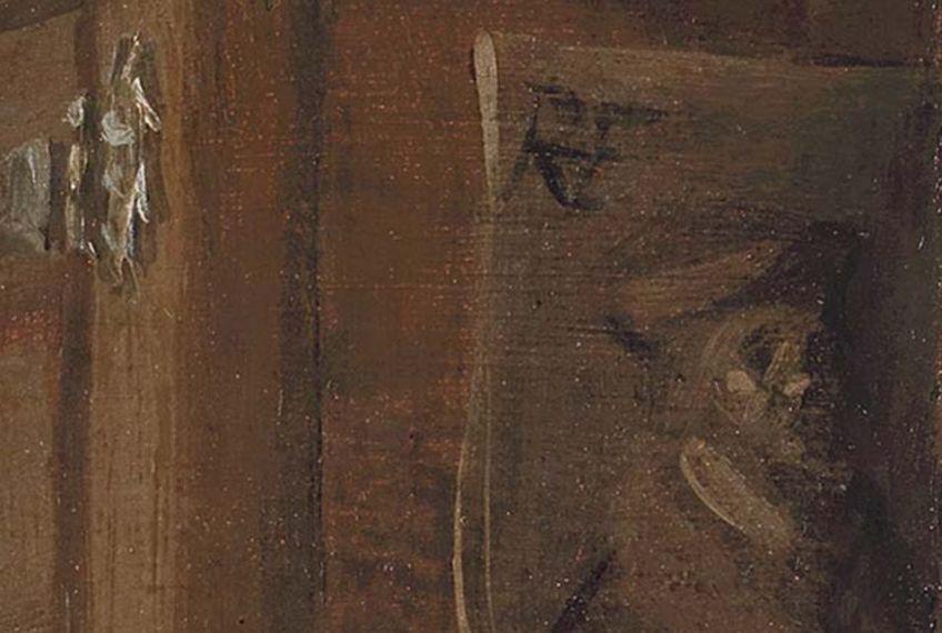 Monogram op het schilderij