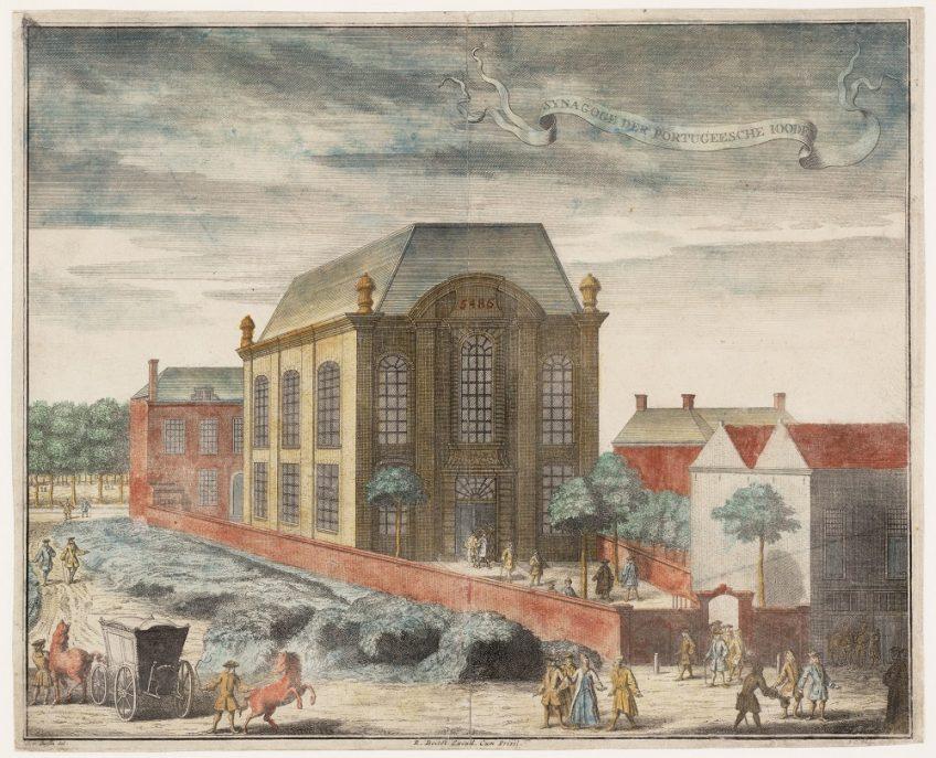 Philips Jan Caspar, Portugese synagoge Beth Jacob in Den Haag, 1729. Collectie Joods Historisch Museum