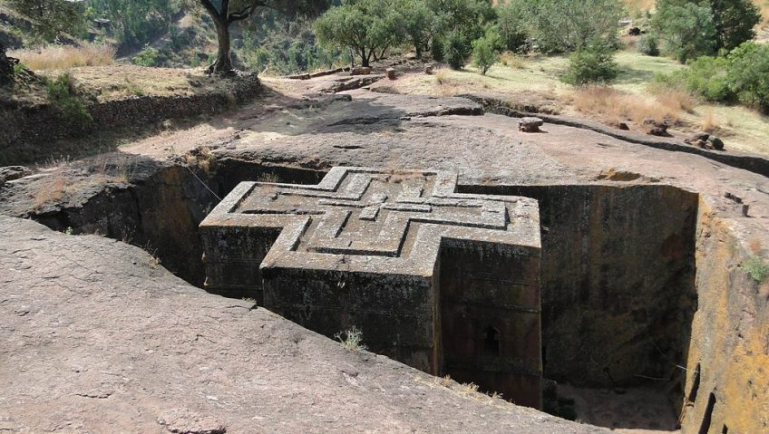 De bijzondere ondergrondse kerken van Lalibela (Ethiopië)