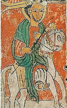 15e-eeuwse afbeelding van koning Lalibela