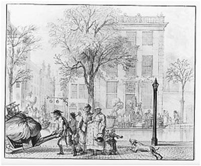 Cornelis Troost, Mei – verhuizingen, 1742. Collectie Amsterdam Museum, TA 10328