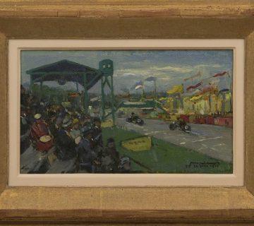Joop Kropff, Ter herinnering aan de TT races te Assen, 24 juni 1933, olieverf op doek op paneel