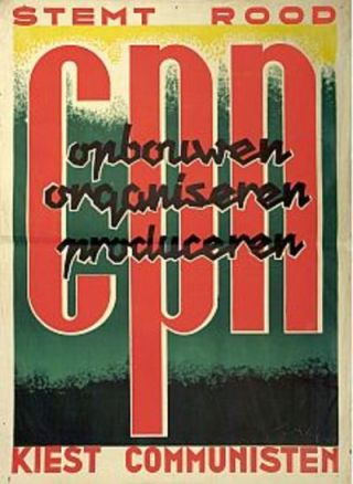 Verkiezingsposter CPN, 1946. Bron: cpnvrouwen.wordpress.com/2009/03/13/ovt/